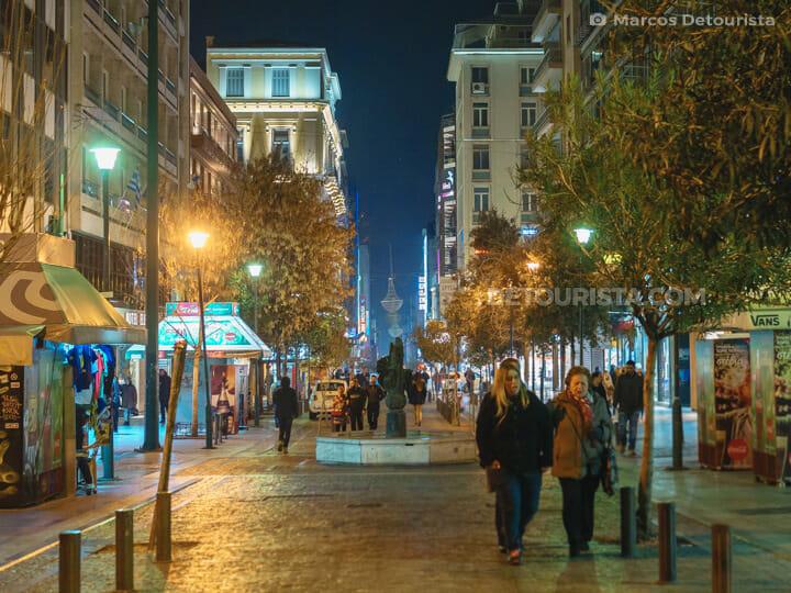 Ermou Street in Athens, Greece