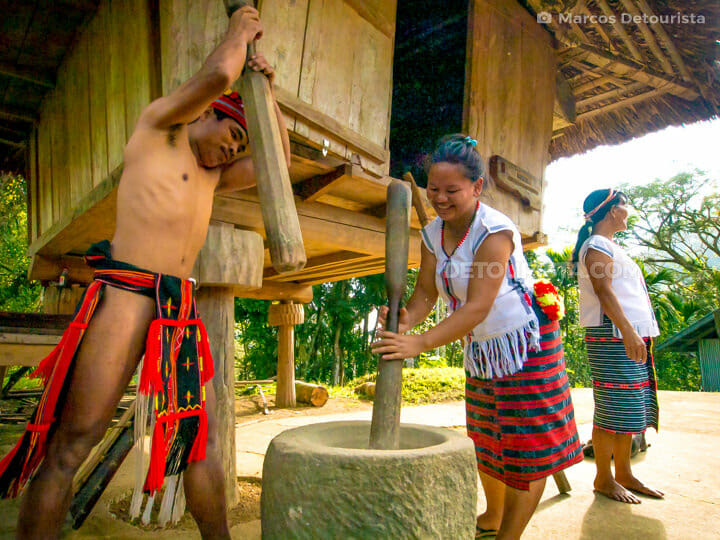 Igorot farmers at Kiangan Rice Terraces & Open Air Museum
