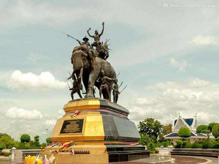 Queen Suriyothai Monument in Ayutthaya, Thailand