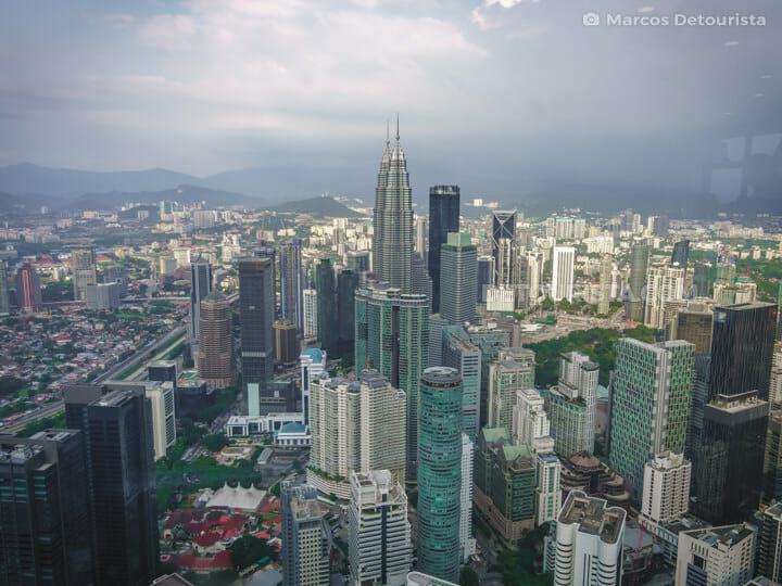 KL Tower view of Petronas Towers