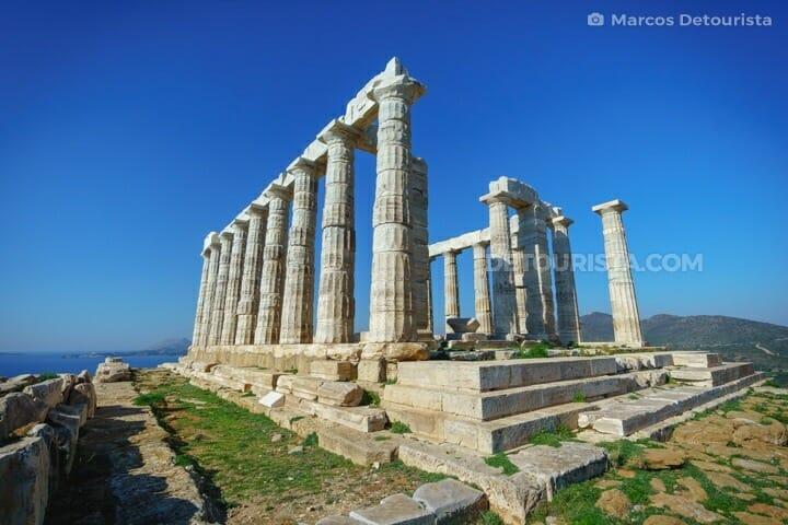 Temple of Poseidon in Cape Sounion, Greece
