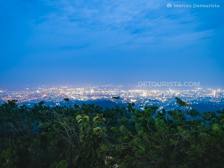 Tops Lookout at night, in Cebu City