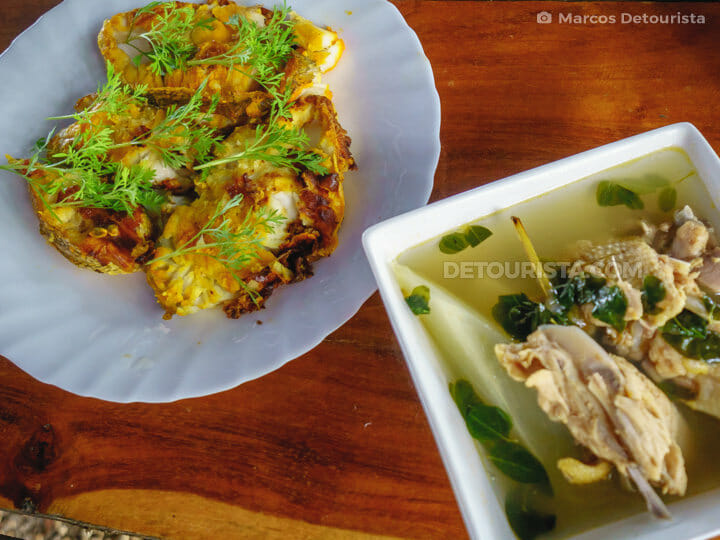 Food  at Nature's Eye Beach Resort