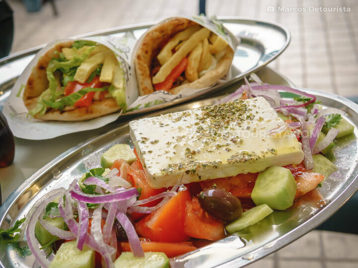 Greek Salad & Gyros in Athens, Greece