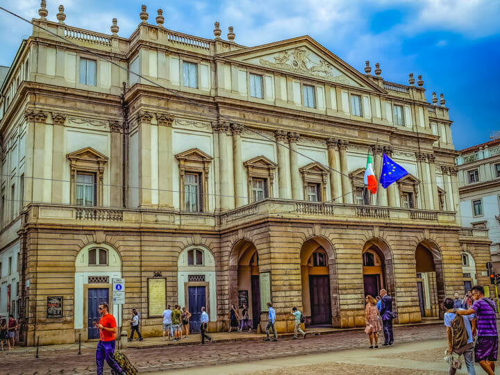 La Scala (Opera House) in Milan, Italy