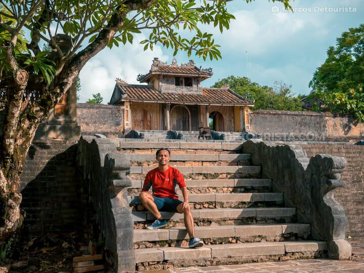 Marcos at Lang Thieu Tri (tomb) in Hue, Vietnam