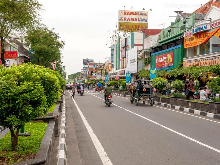 Malioboro Street in Yogyakarta, Java, Indonesia