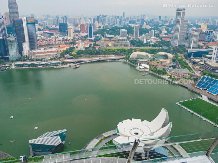 Marina Bay Sands Skypark view overlooking Singapore skyline
