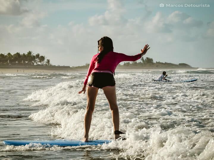 Bagasbas Beach surfing, in Daet, Camarines Norte, Philippines