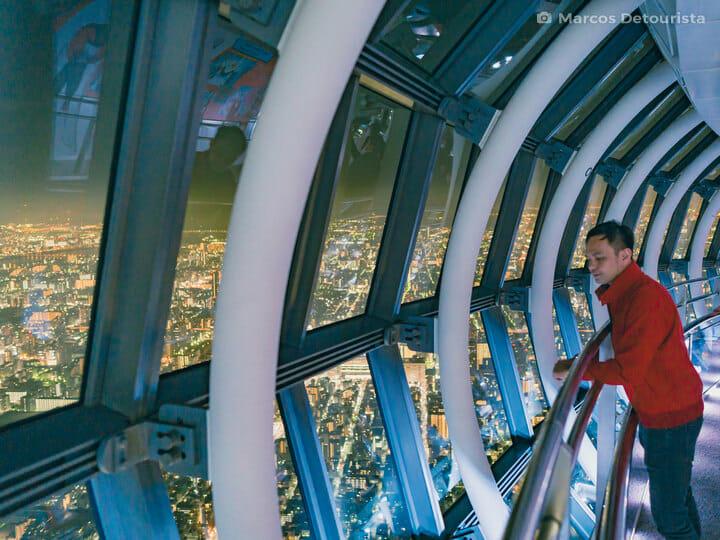 Marcos at Tokyo Skytree, in Tokyo, Japan