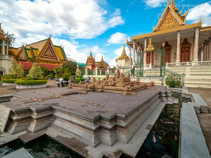 Angkor Wat replica at the Royal Palace, in Phnom Penh, Cambodia