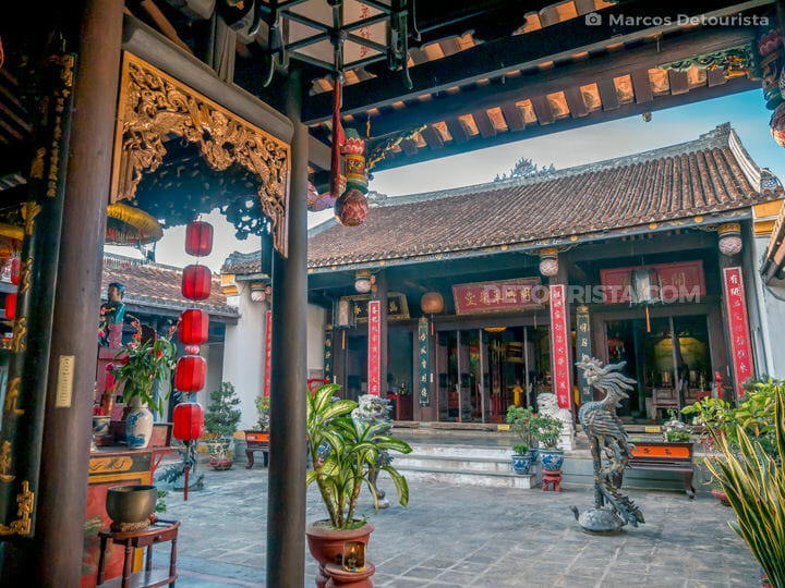 Main courtyard at Minh Huong Ancestor Worship House