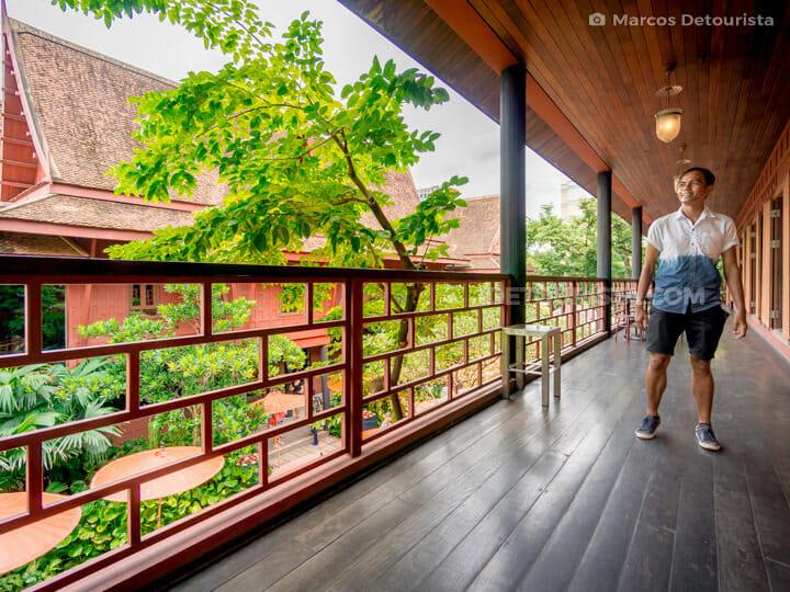 Marcos at Jim Thompson House, in Bangkok, Thailand