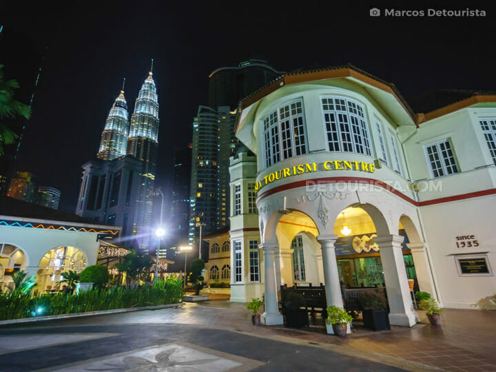 Malaysia Tourism Centre and Petronas Towers, in Kuala Lumrpur, Malaysia