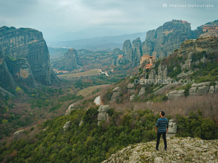 Marcos at Meteora, Greece