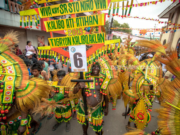 Ati-atihan Festival warriors in Kalibo, Aklan, Philippines