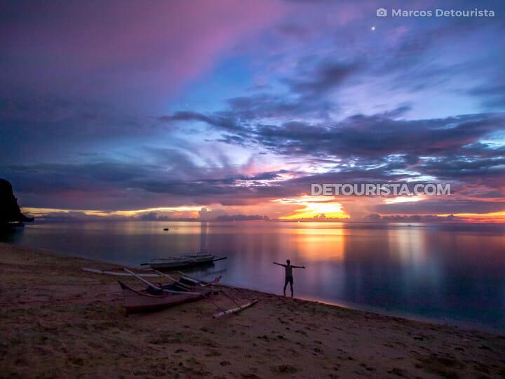 Marcos at Hinugtan Beach, in Buruanga, Aklan, Philippines