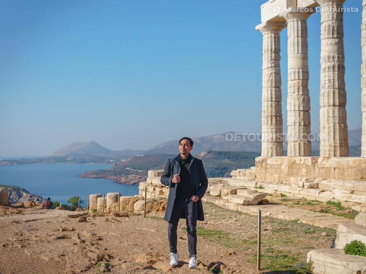 Marcos at Temple of Poseidon, Greece
