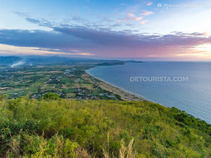 Overlooking Narvacan coast from the parasailing take-off hill, a