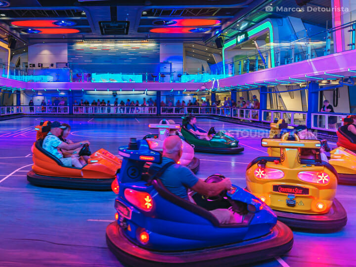 Seaplex bumper cars - Quantum of the Seas by Royal Caribbean