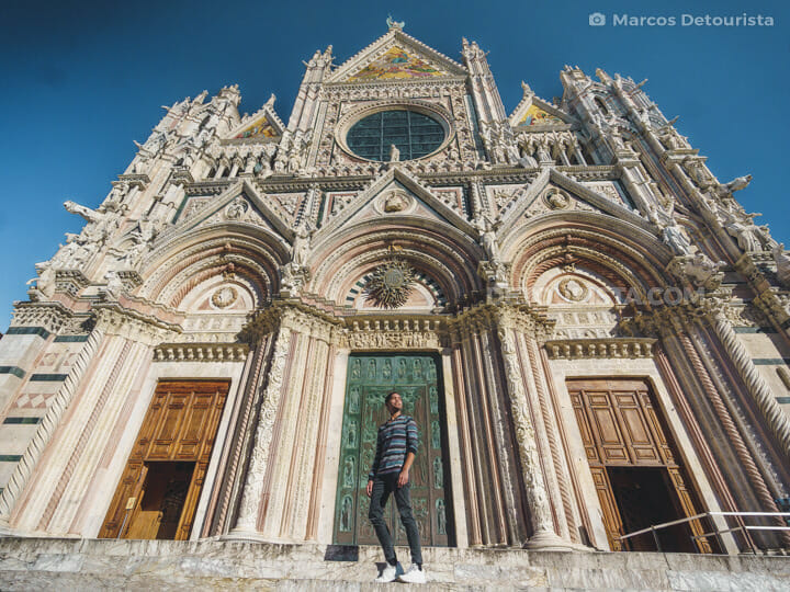 Marcos at Siena Cathedral in Tuscany, Italy