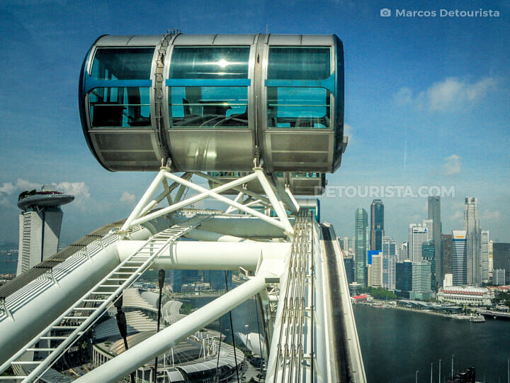 View of the skyline from the Singapore Flyer, in Singapore