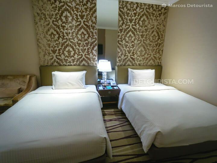 Dorsett Hotel twin room, in Kuala Lumrpur, Malaysia