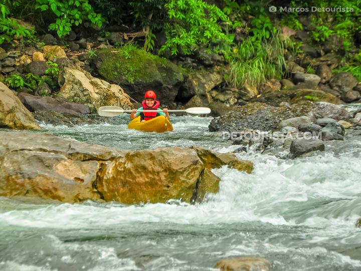 Tibiao white water kayaking