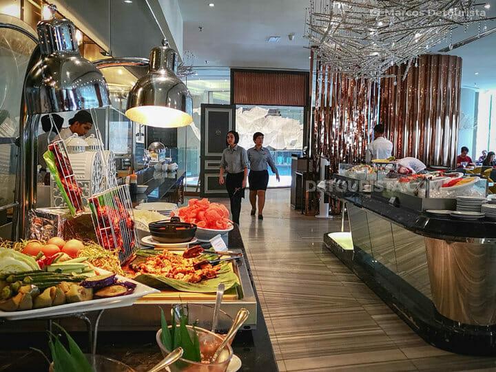 Dorsett Hotel breakfast buffet, in Kuala Lumrpur, Malaysia
