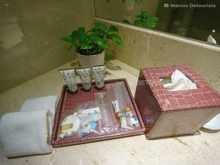 Sampaguita scent bath products at Dorsett Hotel , in Kuala Lumrpur, Malaysia