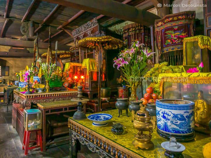 Inside Hon Chen Temple in Hue, Vietnam