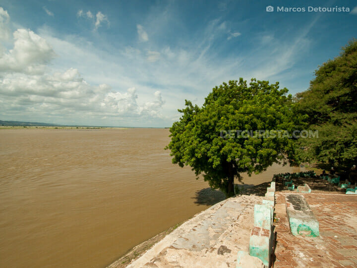 Lawkananda Pagoda and Ayeryarwady River