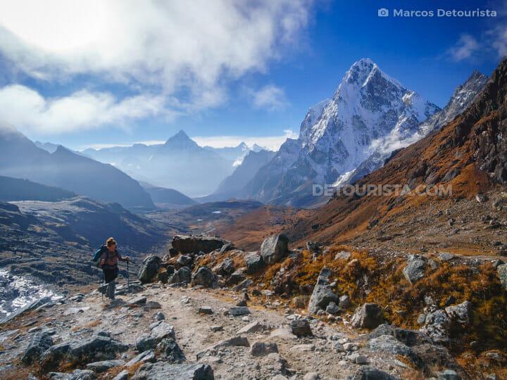 To Cho La Pass from Dzongla