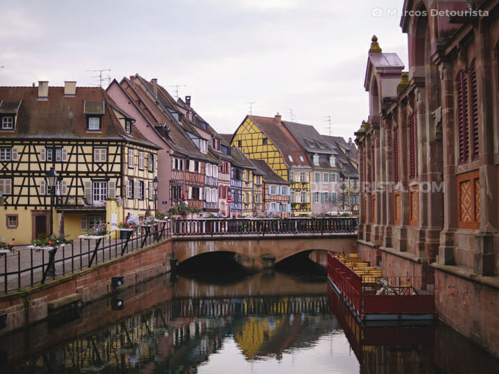 Colmar Canal and Little Venice, in Colmar, France