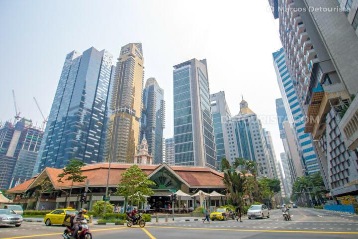 Lau Pa Sat Hawker Centre, in Singapore