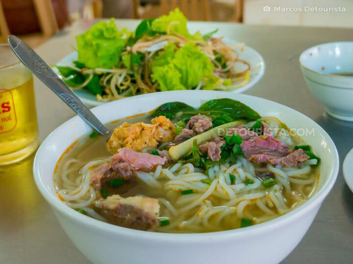 Quan Cam (Bun Bo Hue food stall) in 38 Tran Cao Van, Hue, Vietnam