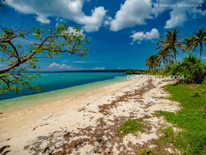 Sibato Island white sand beach, in Caluya, Antique, Philippines