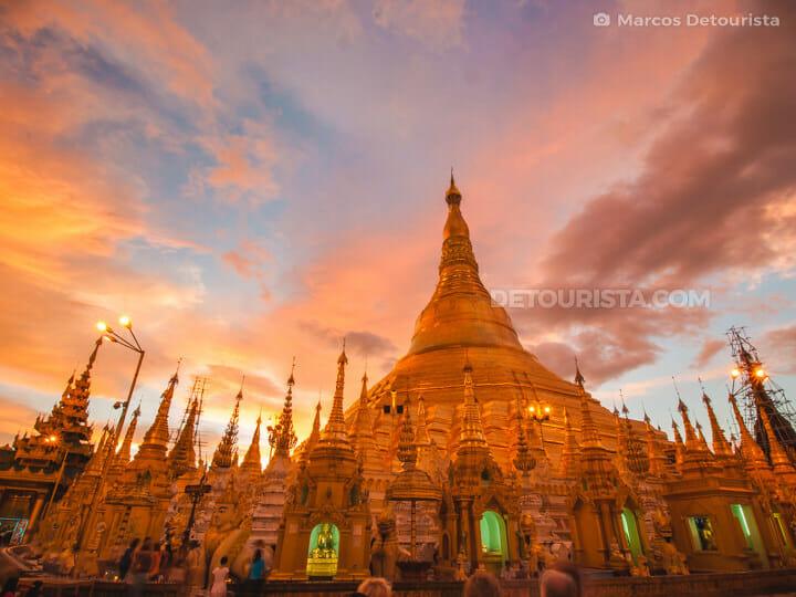 Shwedagon Paya Pagoda, Yangon