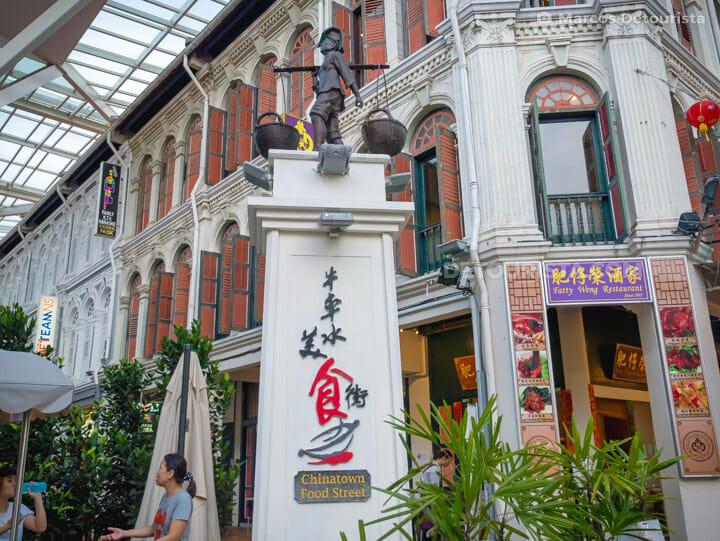 Chintatown Food Street, in Singapore