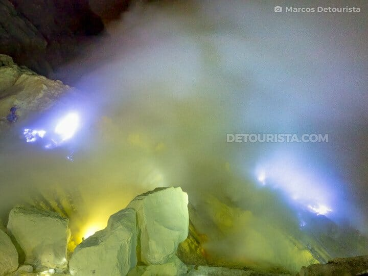 Mount Ijen blue flames