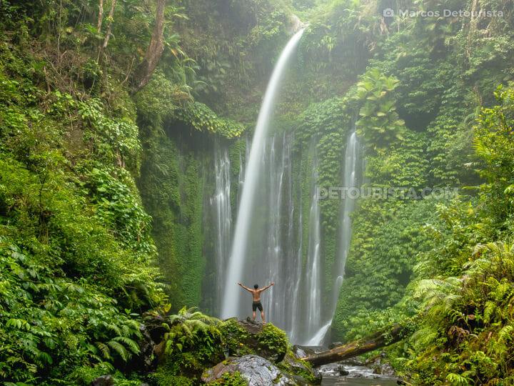 Marcos at Tiu Kelep Waterfall