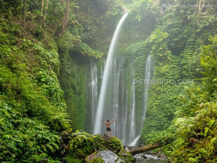 Marcos at Tiu Kelep Waterfall