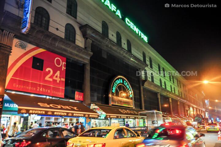 Mustafa Centre at night, in Little India, Singapore