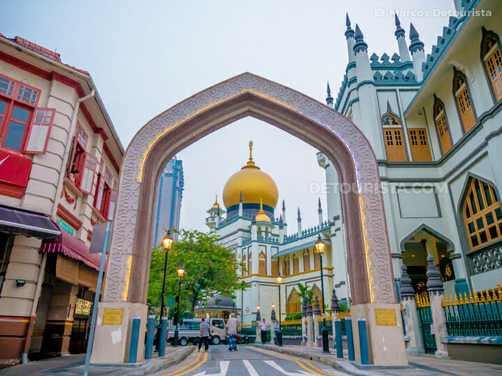 Masjid Sultan  (mosque), at Muscat Street, in Kampong Glam, Singapore