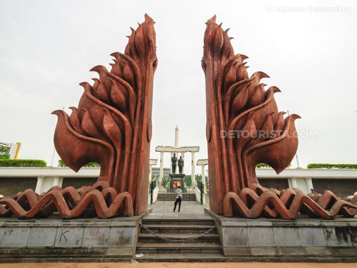Heroes Monument (Tugu Pahlawan), in Surabaya, East Java, Indonesia
