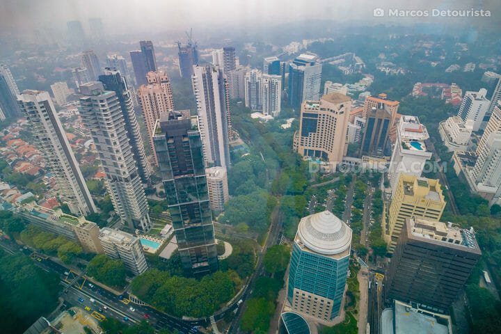 Hazy view at ION Sky, along Orchard Road, in Singapore