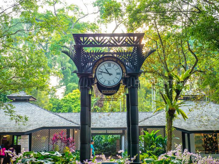 Botanic Gardens - Clock, in Singapore