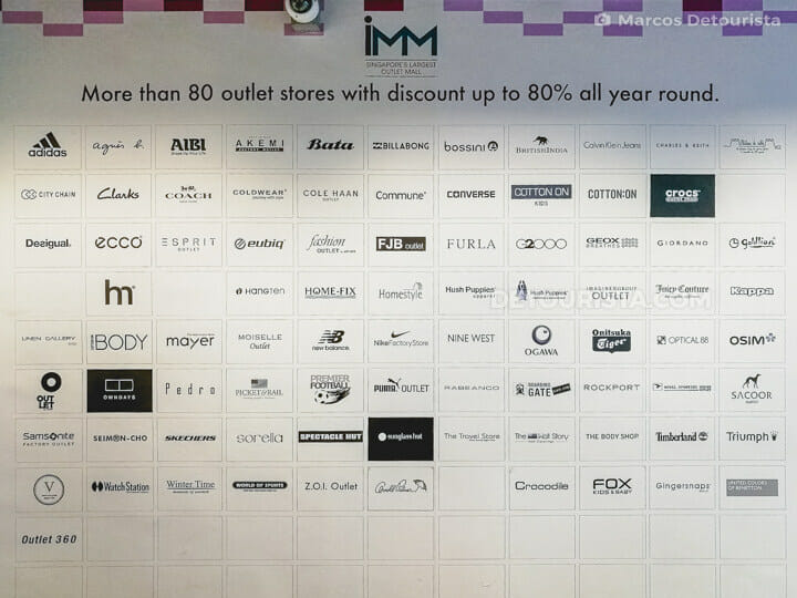 IMM outlet mall, Singapore