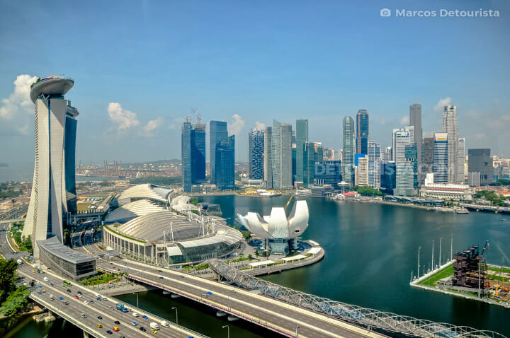Marina Bay and the Singapore Skyline