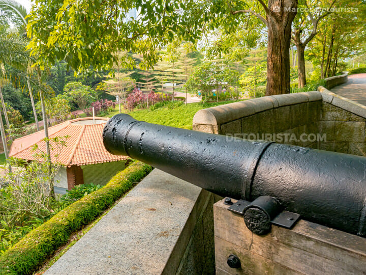 Fort Canning cannon, in Singapore
